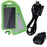 portable power bank 22Wh battery pack charger IP65 waterproof with solar trickle charge & dual 2 Amp charge ports designed for Acer Liquid E2