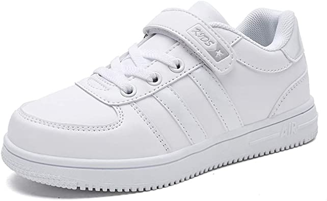 Zapatillas de Deporte para niños Zapatillas Deportivas clásicas de Primavera para niños, niñas, Blancas y con Velcro Niños Antideslizantes Entrenadores de Ocio: Amazon.es: Zapatos y complementos