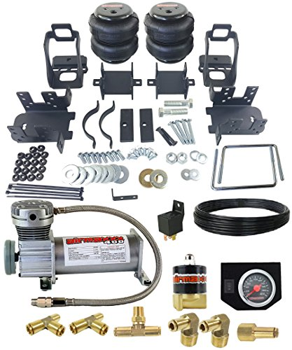 airmaxxx 1999-04 Ford F250 Air Over Load Tow Kit Compressor & Gauge Air Assist Kit