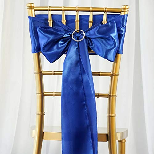 Price comparison product image Mikash 150 New Satin Chair Sashes Bows Ties Wedding Party DIY Decorations Wholesale / Model WDDNGDCRTN - 10732
