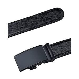 QISHI YUHUA Belt Men's Leather Ratchet Belt,pd-s-314