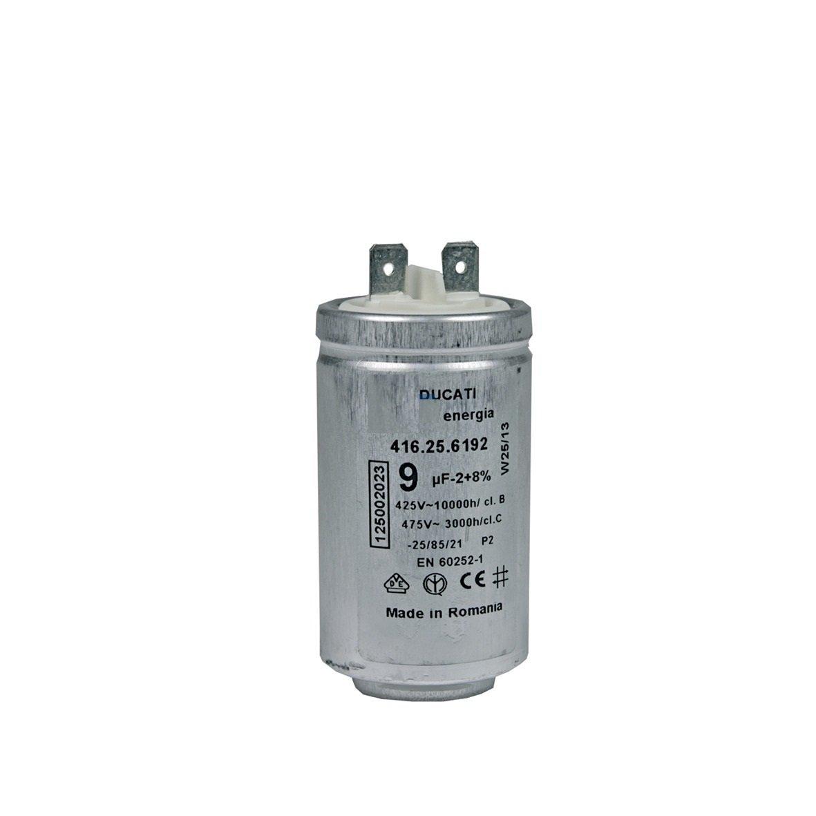 Motor-iniziare a condensatore 9 µF uF 450 V Electrolux AEG 125002022 DUCATI