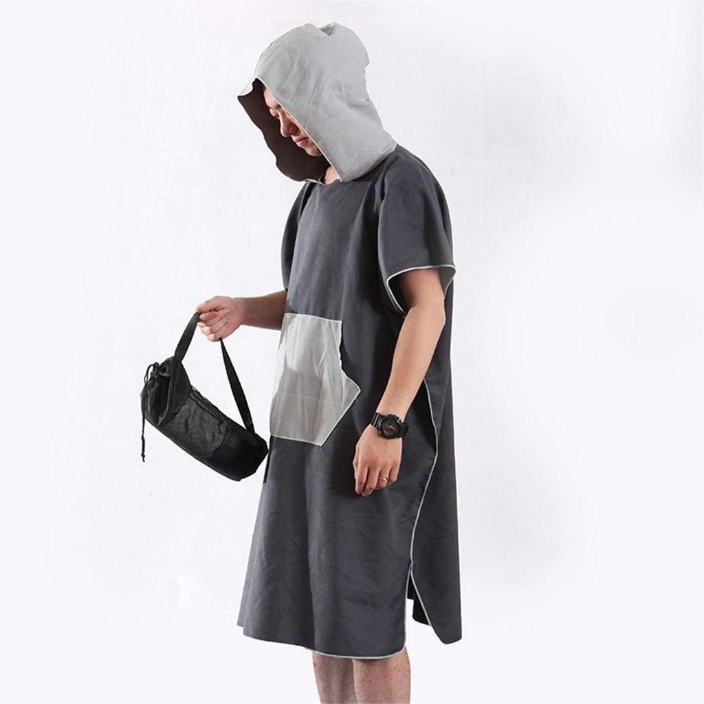 CUTICATE Unisex Surf Hooded Poncho Wetsuit Changing Robe /& Pocket For Swim Kitesurf