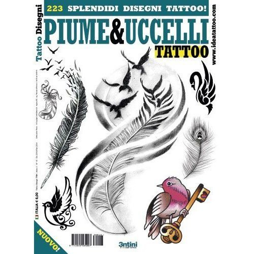 PIUME&UCCELLI Birds and Feathers Illustration / Tattoo Flash Book Books / Tattoo Flash Art by 3tini by 3tini
