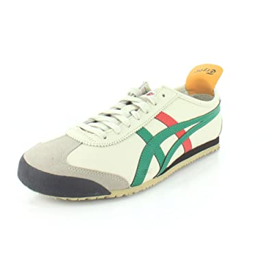 Onitsuka Tiger Unisex Mexico 66 Shoes DL408, Birch/Green, | Fashion Sneakers