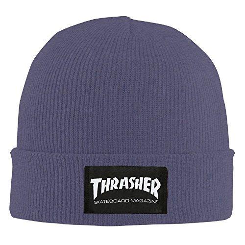 Thrasher Skateboard Magazine Printing Man s Beanie Ski Hat Custom Made  Commemorative Edition Slouchy Wool Beanie 65d60ba04d9