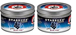 Starbuzz Hookah Tobacco Flavors 100g, Free Shipping (BLUE MIST)-2 PACK