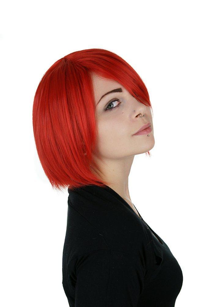 peluca roja cosplay