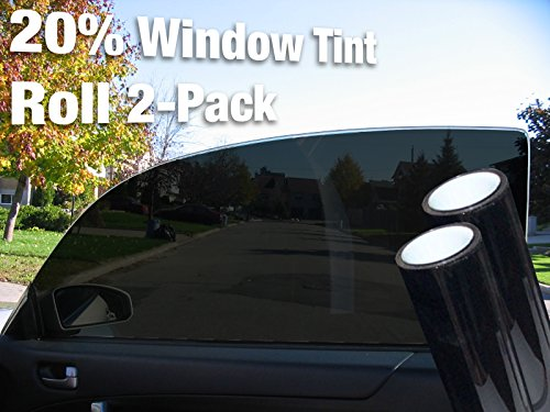 Complete Car Window Wrap 20% Dark Tint Glass Vinyl Film 30