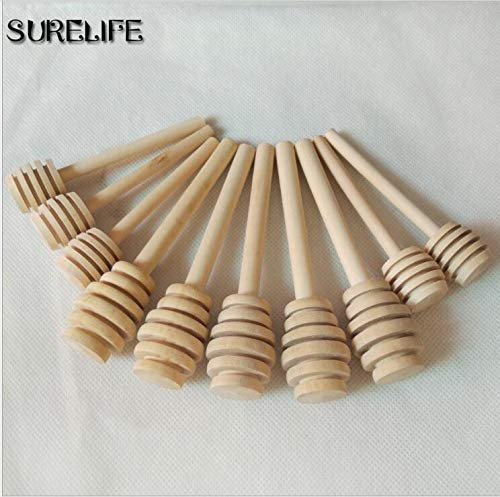 HOT - Spoons - 50pcs Wooden Honey Stick Honey Dipper Party Supply Wood Honey Spoon Stick For Honey Jar Long Handle Mixing Stick Cuchara Miel - 1 PCs by Annona