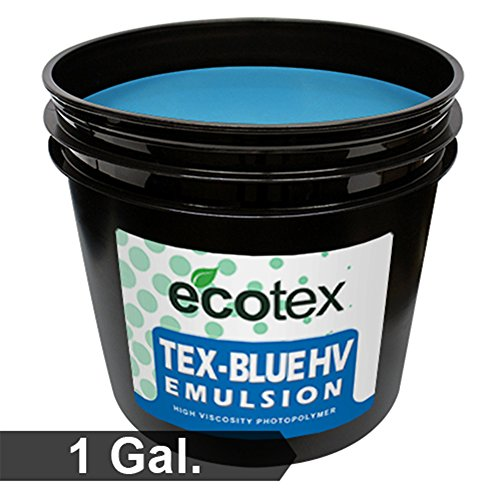 Ecotex TEX-BLUE HV - High Viscosity Textile Screen Printing Emulsion (1 Gallon)