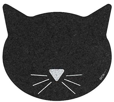 Amazon.com: Mineral Pet goma reciclada Cara de gato Placemat ...