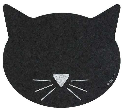 ORE Pet Recycled Rubber Cat Face (Recycled Rubber Pet Placemat)