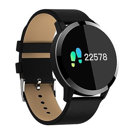 YYC Q8 OLED Reloj Inteligente de Acero Inoxidable con Bluetooth, Resistente al Agua, para