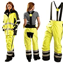 COMBO PACK - Speed Collection Preimum Breathable Rain Jacket and Pants - 5x-HI-VIZ YELLOW
