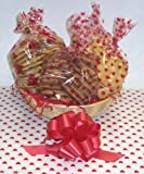 Scott's Cakes Large Valentines Day Classic Cookie Basket with no Handle Heart Wrapping