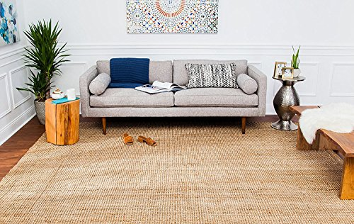 Anji Mountain 5-Foot-by-8-Foot Andes Jute Rug, Natural