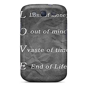 Premium Durable Love Meaning Fashion Tpu Galaxy S3 Protective Case Cover