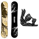 Package-Camp Seven Roots CRC Snowboard-156 cm-Flow Alpha MTN Snowboard Bindings-XL