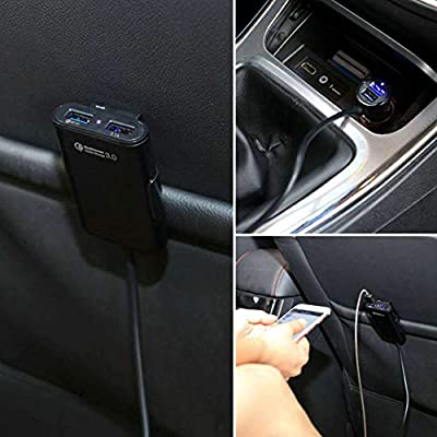 Car Charger Quick Charge 3.0, Relting 48W 9.6A Front/Back Seat Car Adapter with 4 USB Ports for iPhone Xs/XR/X/8/7/6/Plus, iPad, LG, Samsung, HTC and More