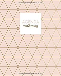 Agenda 2018/2019: Una semana por lado doble, diseño de ...