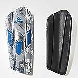 adidas Performance Messi 10 Pro Shin Guard, Medium, Silver Metallic Grey/Shock Blue