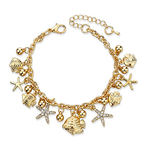 way gold plated charm bracelets bangles