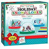 Creativity for Kids 1846000 Creativity For Kids Holiday Snow globes - Makes 3 Christmas Snow globes for Kids (New Packaging)