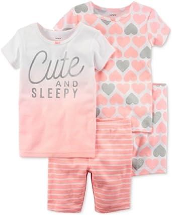 Carters - Set de Pijama de 4 Piezas para niña de 24 Meses ...