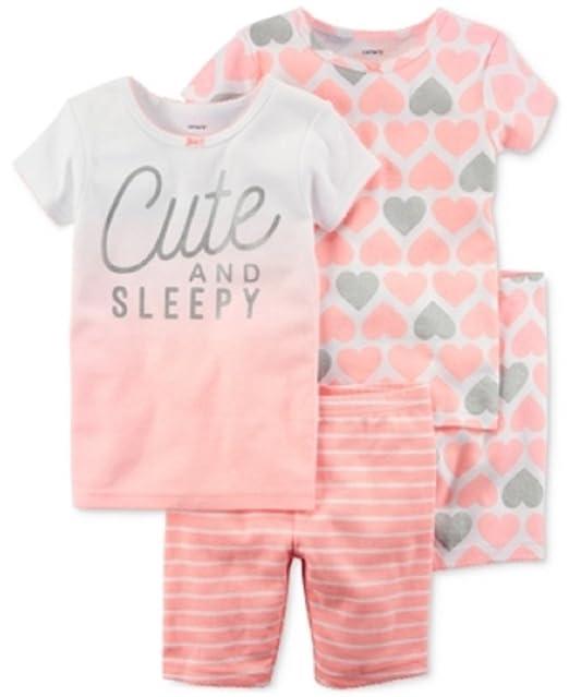 Carters - Set de Pijama de 4 Piezas para bebé niña de 9 Meses