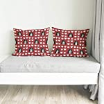 Style In Print Personalized Pillow Case Ariegeois Dog Red Paw Heart Polyester Pillow Cover 20INx28IN Design Only Set of 2 11