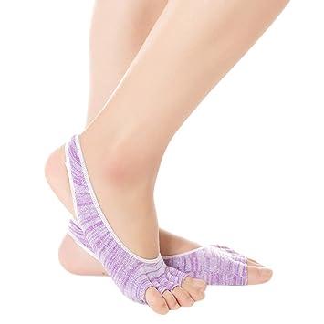KINDOYO Calcetines de Yoga - Calcetines Antideslizantes para ...