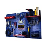 Wall Control Pegboard Standard Tool Storage Kit, Blue/Red
