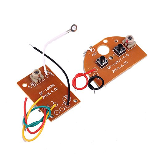 IS Icstation Simple 2 Channel Radio RC Transmitter Receiver Kit for DIY Remote Control Boat Car Projects