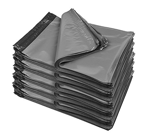 iMBAPrice 500 - 10x13 (GREY) Color Poly Mailers Shipping Envelopes Bags (Total 500 Bags)