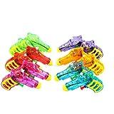 Assortmart 12 Squirt Guns For Kids - Transparent Neon Bulk Water Guns With Classic Design And Durable Materials