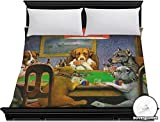 Dogs Playing Poker 1903 C.M.Coolidge Duvet Cover - King