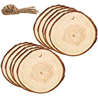 Dragonhoo Home Decoration 30/50 Pieces Circles 6-7 cm Wood Slices