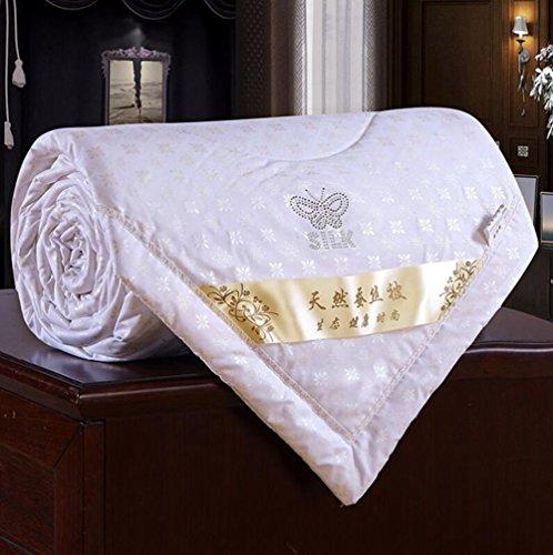 - Zehui Duvet Coverlet Blanket Doona for Summer 100% Mulberry Silk Filled Comforter Quilt White 200230cm