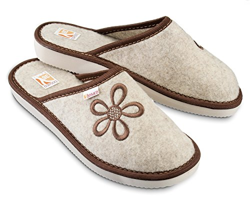Bosaco Shoes Foam Womens Slippers Mule Ladies House Felt Memory Slippers Brown Home CBHqrwxC