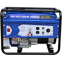 Green-Power America GPD4000 Consumer Select Series Recoil Start Generator, 4000W
