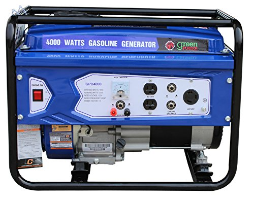 Green-Power America GPD4000 Consumer Select Series Recoil Start Generator, 4000W