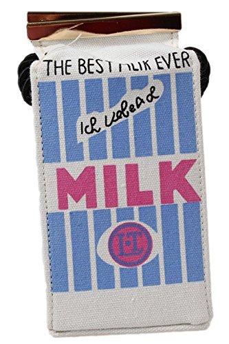 8.5x8x16.5cm 8m Ragazza Donna Tela Borse a Tracolla Latte Borse Scatola Zaino (Bianco)