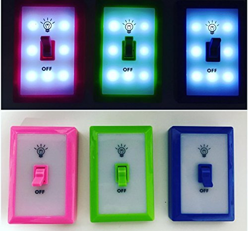 Leading Edge Night Light Switch Portable Light Toy (Single Light Switch Colors Vary)