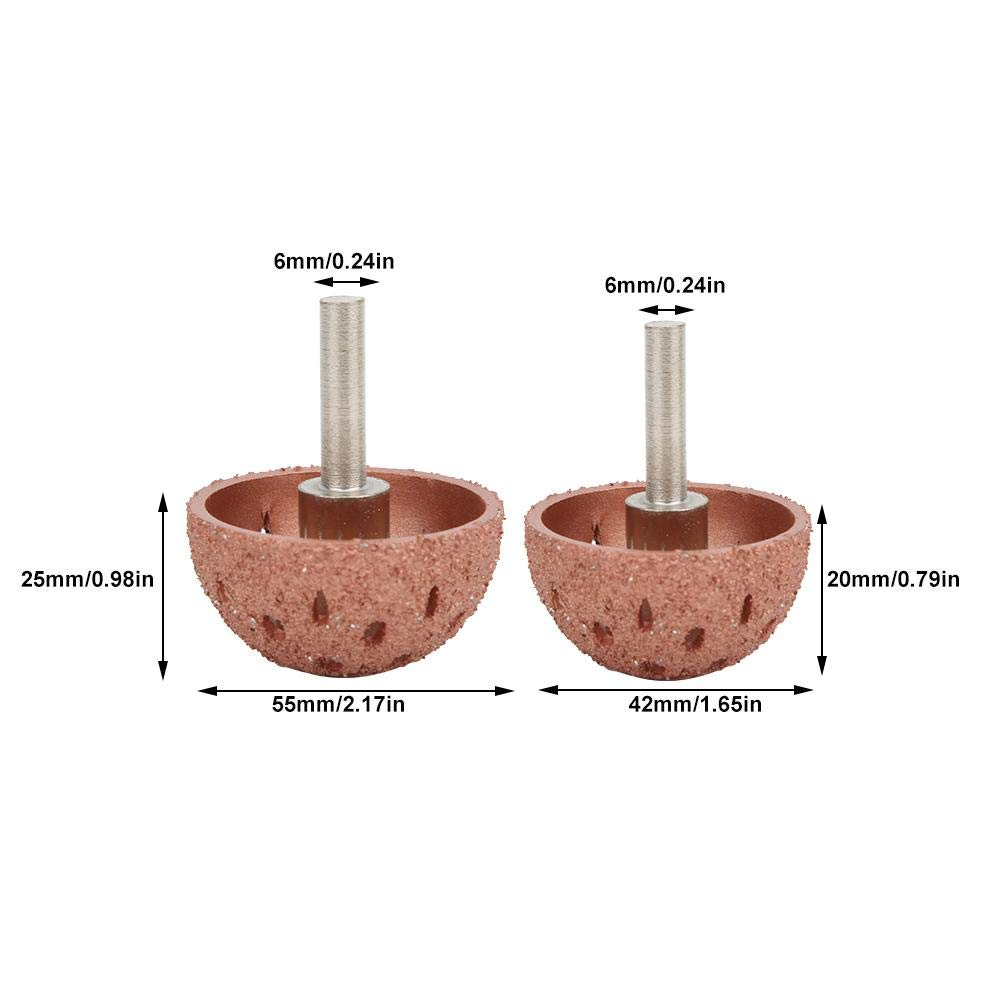 55mm Round Tungsten Steel Material Pneumatic Grinding Head Tyre Repair Tool 1#