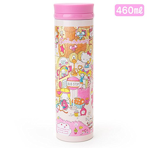 Sanrio Sanrio Characters stainless steel mug bottle L wrapping paper 460ml From Japan New by Sanrio