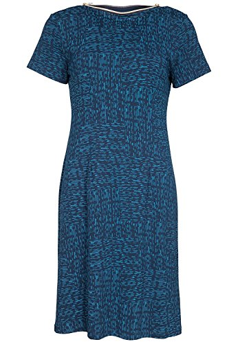 Nanso XXL Blau Kleid XL mit M Lastu tailliert cm Gr Ladies Zipper Damen Dress Länge 98 rgaq1r