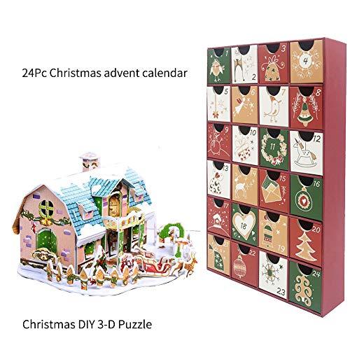 [해외]Lichen Cottage Advent 달력 - 2019 카운트다운 캘린더 DIY - 크리스마스 DIY 3D 퍼즐 / Lichen Cottage Advent Calendar - 2019 Countdown Calendar DIY - Christmas DIY 3D Puzzle
