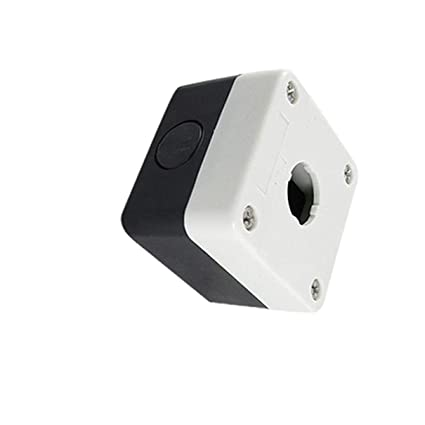 1 22mm Hole Pushbutton Switch Control Station Protector Box Black White 1 Hole