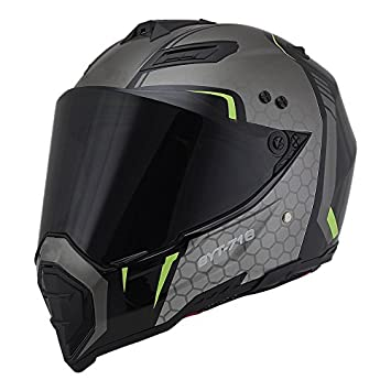 Amazon.com: Woljay Dual Sport Off Road Motorcycle helmet Dirt Bike ATV D.O.T certified (M, Black): Automotive